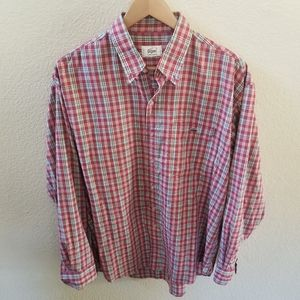 Vintage Lacoste Long Sleeve Button Down Size 50